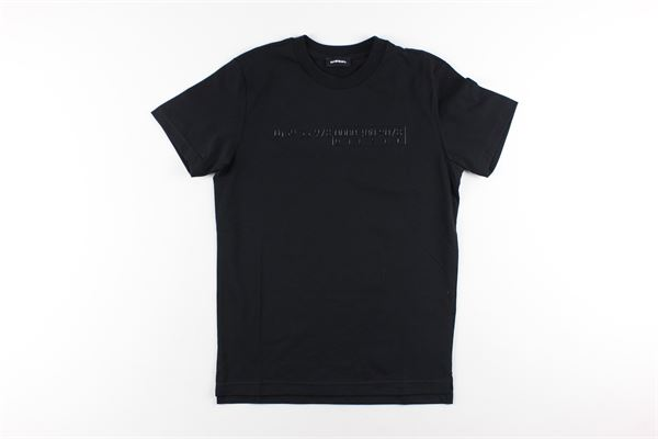t-shirt tinta unita con stampa DIESEL | T-shirts | 00J4Y3NERO