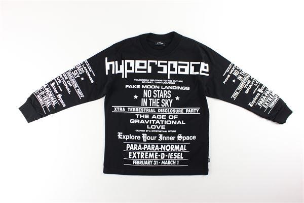 shirt tinta unita con stampa DIESEL | Shirts | 00J4Y7NERO