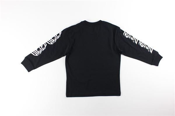 shirt tinta unita con stampa DIESEL | Shirts | 00J4Y8NERO