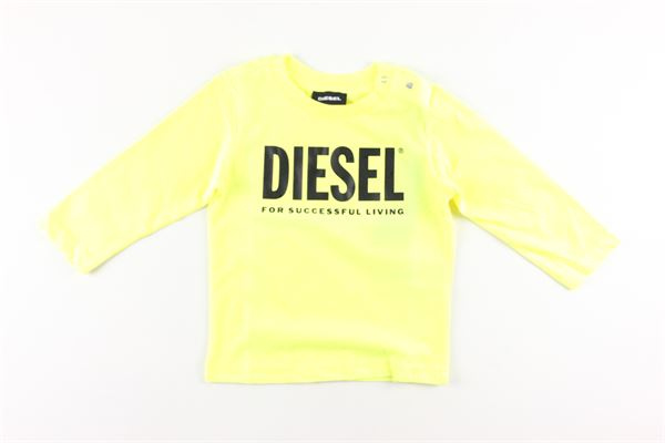 shirt tinta unita con stampa DIESEL | Shirts | 00K26KGIALLO FLUO