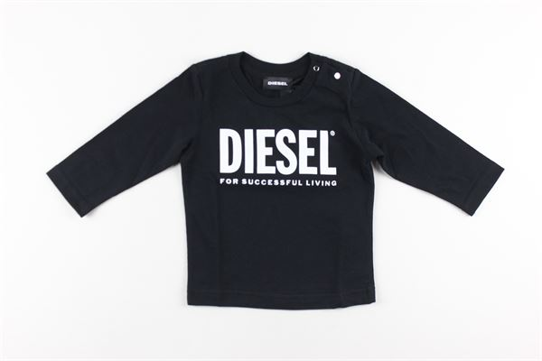 shirt tinta unita con stampa DIESEL | Shirts | 00K26KNERO