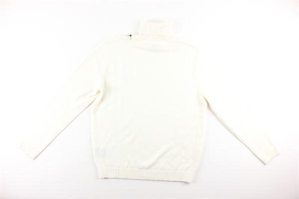 maglia collo alto tinta unita DIKTAT | Maglie | DK87013BIANCO