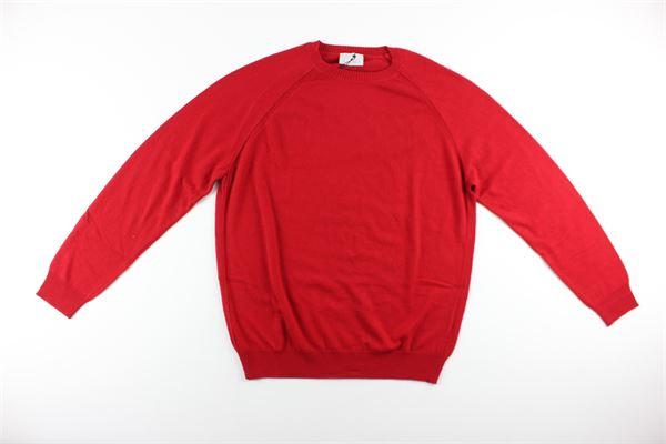 maglia tinta unita girocollo DIKTAT | Maglie | DK87021ROSSO