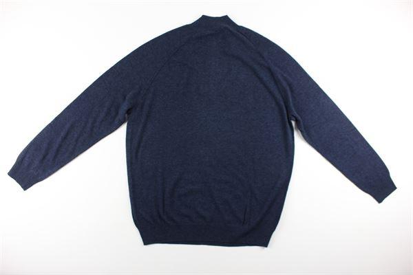 maglia tinta unita mezza zip DIKTAT | Maglie | DK87022BLU