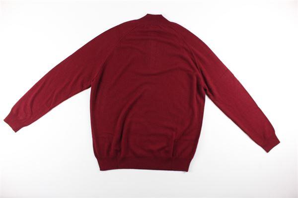 maglia tinta unita mezza zip DIKTAT | Maglie | DK87022BORDEAUX