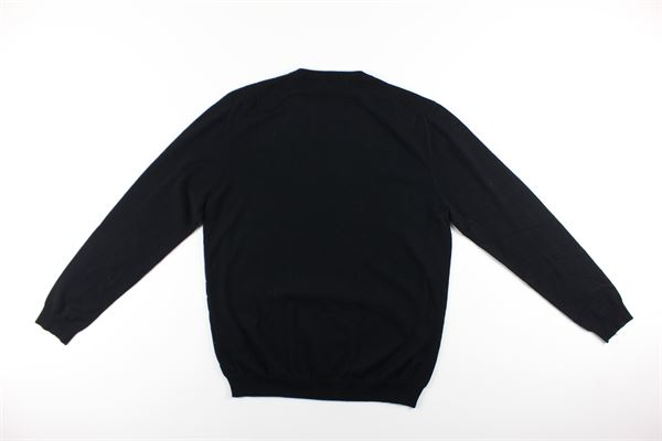 maglia tinta unita 100%lana DIKTAT | Maglie | DK87029NERO