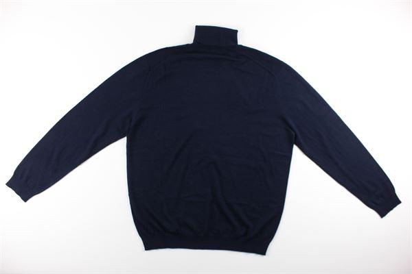 maglia collo alto tinta unita 100%lana DIKTAT | Maglie | DK87032BLU