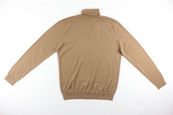 maglia collo alto tinta unita 100%lana DIKTAT | Maglie | DK87032CAMMELLO