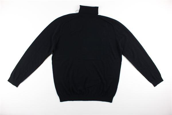 maglia collo alto tinta unita 100%lana DIKTAT | Maglie | DK87032NERO