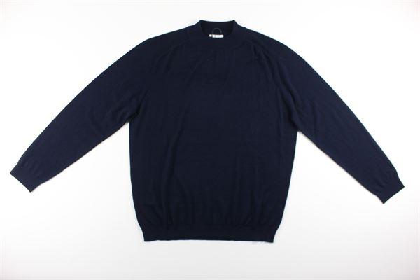 maglia tinta unita girocollo 100%lana DIKTAT | Maglie | DK87034BLU