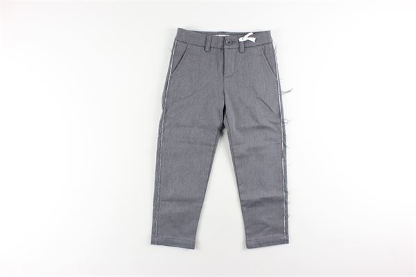 pantalone tinta unita con tasca america DONDUP | Pantaloni | BP228GRIGIO