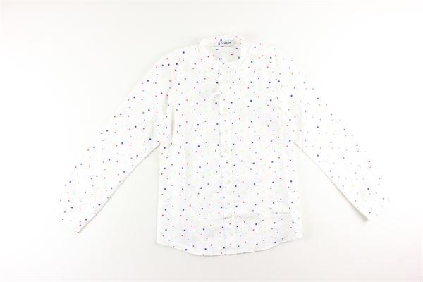 camicia manica lunga tinta unita con stampa fantasia DONDUP | Camicie | BC057BIANCO