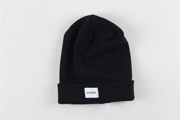 cappello tinta unita con stampa DONDUP | Cappelli | BH263MY0016XXBDW1NERO