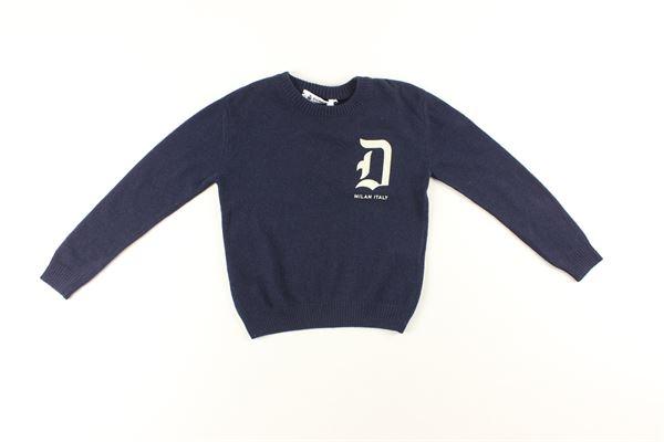 maglia tinta unita con stampa DONDUP | Maglie | BM192BLU