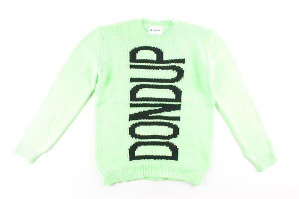 maglia tinta unita con stampa DONDUP | Maglie | BM192XVERDE FLUO