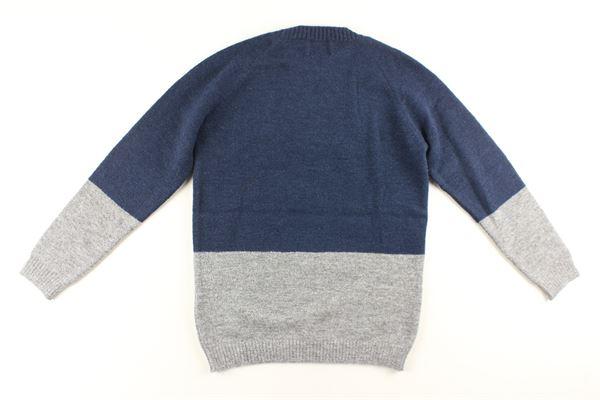 maglia bicolore con stampa DONDUP | Maglie | BM204BLU