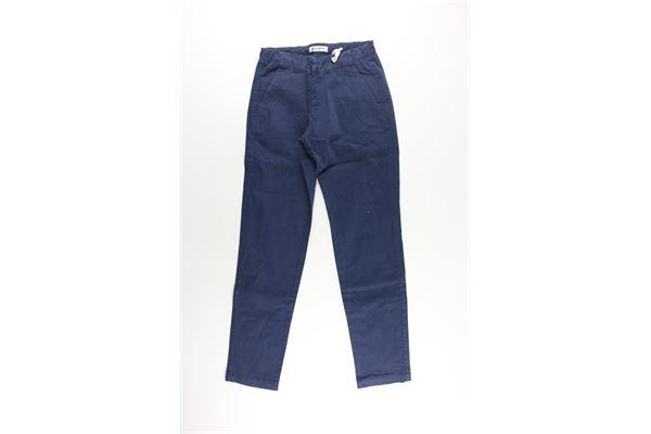 pantalone tinta unita con tasca america DONDUP | Pantaloni | BP244BLU
