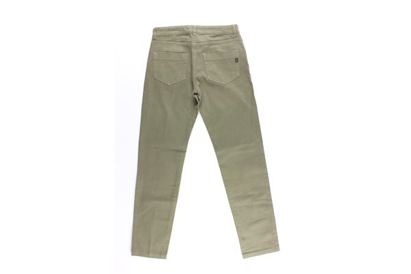 pantalone tinta unita 5 tasche DONDUP | Pantaloni | CE192VERDE