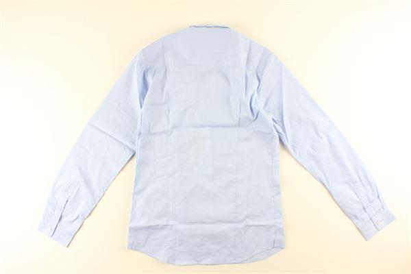 camicia manica lunga tinta unita DONDUP | Camicie | DMCA02G.2CELESTE