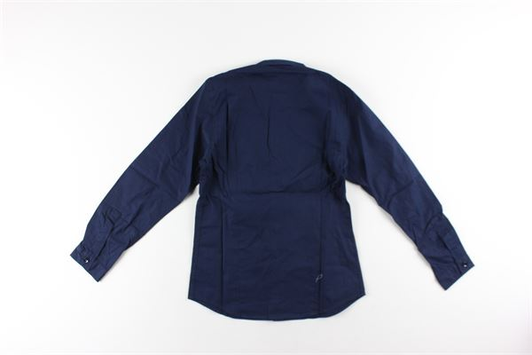 camicia tinta unita manica lunga DONDUP | Camicie | DMCA06BLU