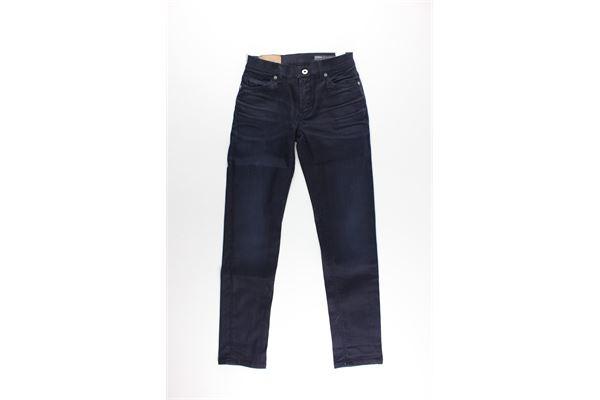 jeans 5 tasche tinta unita DONDUP | Jeans | DMPA205BLU