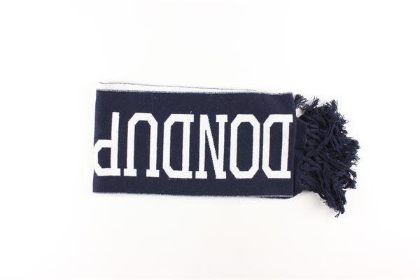 sciarpa bicolore con stampa logo DONDUP | Sciarpe | DMSC01FL07SD106BLU
