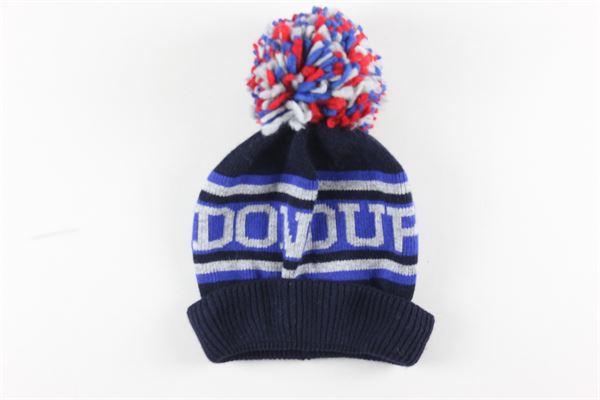 cappello tinta unita con stampa e pon pon DONDUP | Cappelli | FL98BLU