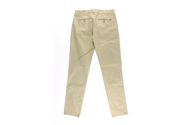 pantalone tinta unita tasche america DONDUP | Pantaloni | RA41VERDE