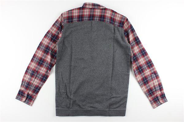 camicia fantasia a quadri e stampa logo DSQUARED | Camicie | DQ03MNNERO