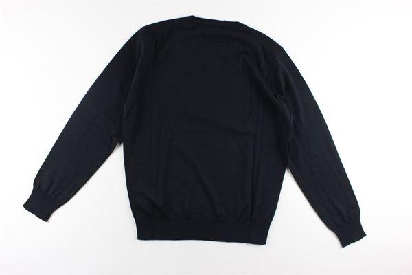 maglia girocollo tinta unita con stampa logo DSQUARED | Maglie | DQ04I6NERO