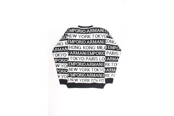 maglia bicolore con stampe EMPORIO ARMANI | Maglie | 6G4MYFNERO