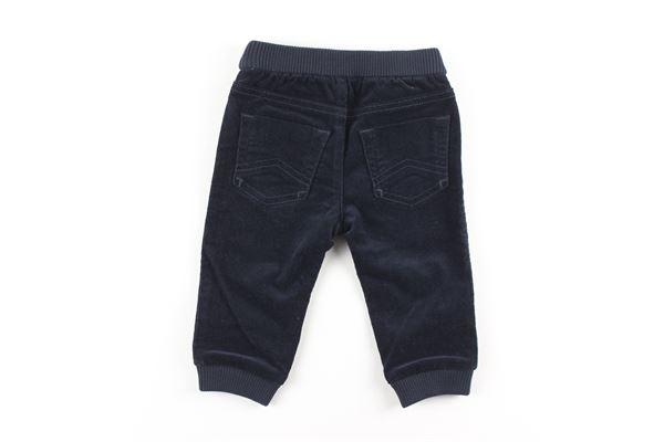 pantalone in velluto con profili logati EMPORIO ARMANI | Pantaloni | 6GHJ10BLU