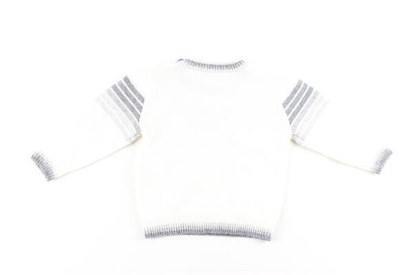 maglia tinta unita con stampa EMPORIO ARMANI | Maglie | 6GHM50BIANCO
