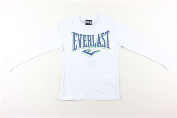 shirt tinta unita con stampa EVERLAST | Shirts | 026520BIANCO