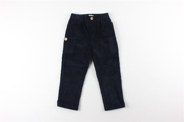 pantalone in velluto tinta unita FINA EJERIQUE | Pantaloni | O20B1933BLU