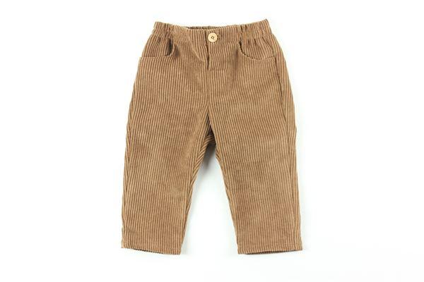 pantalone tinta unita in velluto FINA EJERIQUE | Pantaloni | O20B7860FANGO
