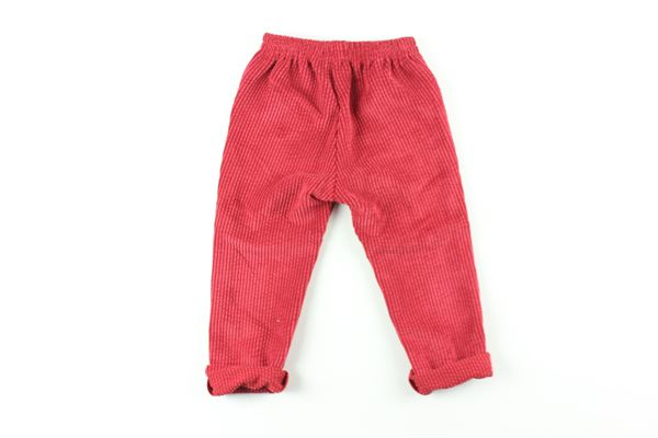 pantalone tinta unita in velluto FINA EJERIQUE | Pantaloni | O20B7860ROSSO