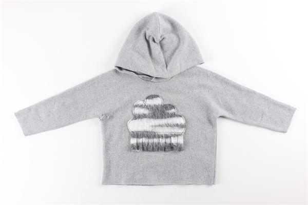 maglia con cappuccio tinta unita FRUGOO | Maglie | 211M039GRIGIO