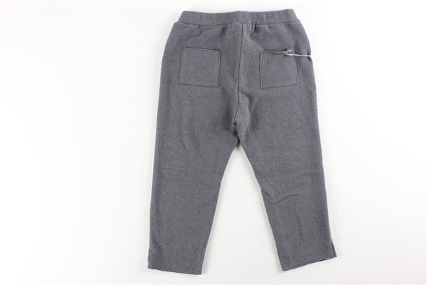 pantalone tinta unita con elastico in vita e tasconi FRUGOO | Pantaloni | 211P042GRIGIO SCURO
