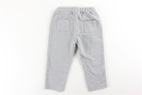 pantalone tinta unita con elastico in vita e tasconi FRUGOO | Pantaloni | 211P042GRIGIO