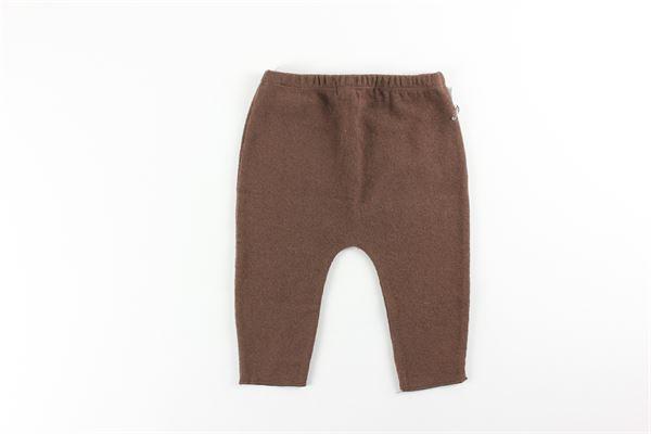 pantalone tinta unita con elastico in vita FRUGOO | Pantaloni | 211P048MARRONE