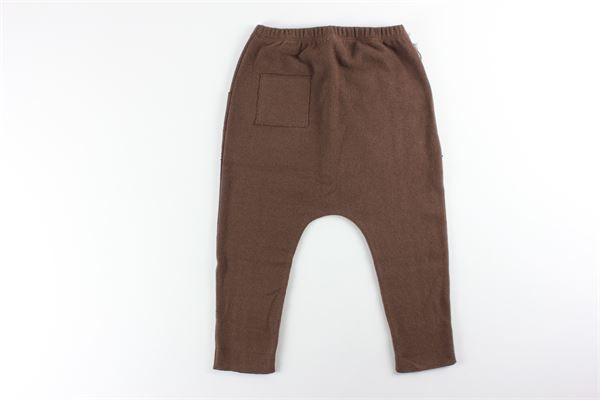 pantalone tinta unita elastico in vita FRUGOO | Pantaloni | 211P092MARRONE