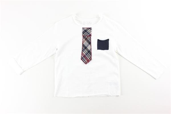 shirt tinta unita con finta crevatta e taschino FRUGOO | Shirts | 211T011BIANCO