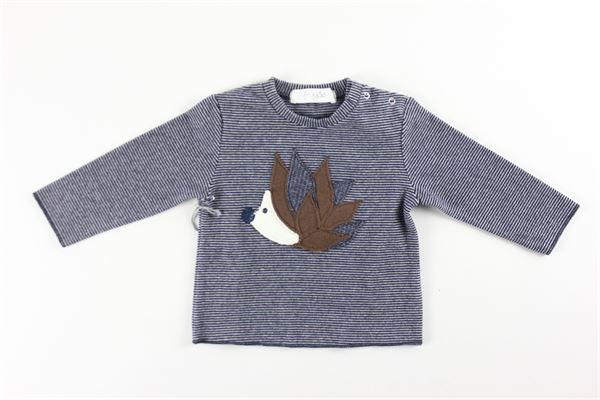 shirts tinta unita con stampa fantasia a righe FRUGOO | Shirts | 211T101BLU