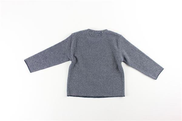 shirt fantasia righe e stampa FRUGOO | Shirts | 211T108BLU