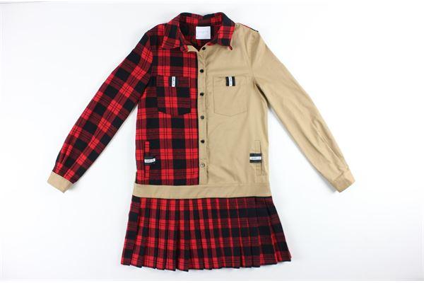 GAELLE | Dress | GBD7245BEIGE/ROSSO