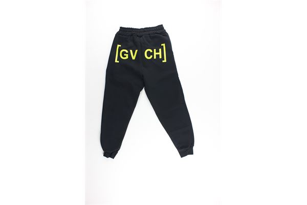 pantalone tinta unita con stampa GAVROCHE | Pantaloni | BO10266NERO