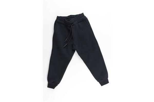 pantalone tuta tinta unita con stampa GAVROCHE | Pantaloni | BO1026NERO