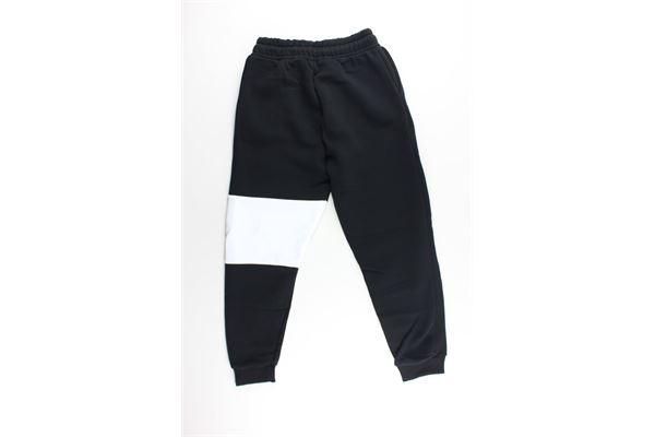 pantalone tuta tinta unita con stampa GAVROCHE | Pantaloni | BO1027NERO