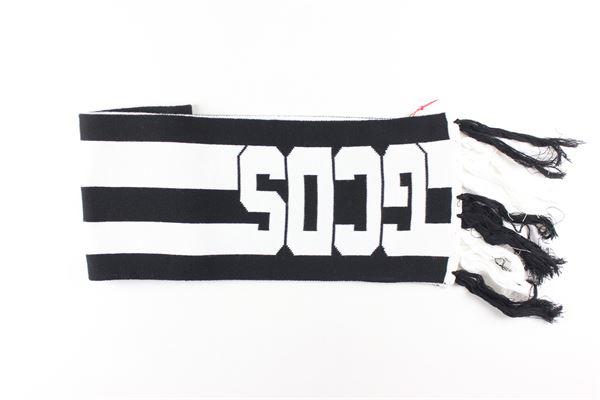sciarpa bicolore con stampa logo GCDS | Sciarpe | 020404NERO